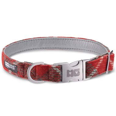 Charlie's Flame Dog Collar with Metallic Silver Leather