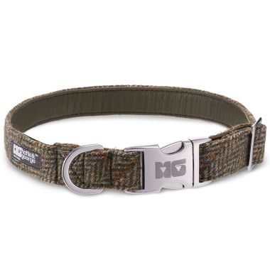 Chester's Country Green Dog Collar with Amazon Leather