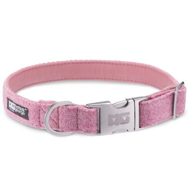 Rosie's Pink Dog Collar with Rose Pink Leather
