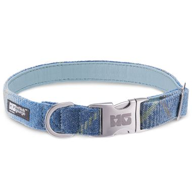 Stanley's Sky Dog Collar with Baby Blue Leather