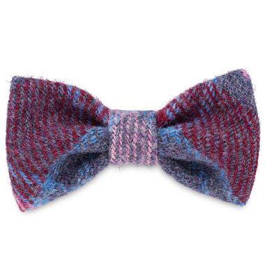 Bonnie's Pinks & Purples Dog Bow Tie