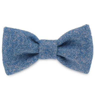 Teddy Blue Dog Bow Tie