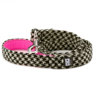 Wilma's Black & White Dog Lead